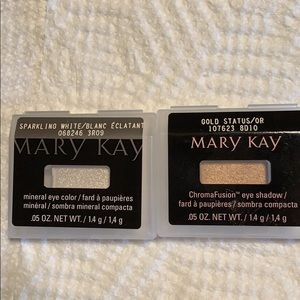 Mary Kay Eye sparkling white and gold status.